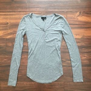 Topshop grey long sleeve
